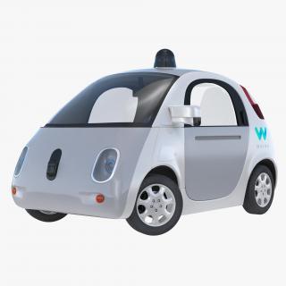 Waymo Self Driving Car Rigged 3D model