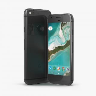Google Pixel Phone Quite Black Set 3D model