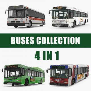 3D Buses Collection 6 model