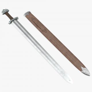 3D model Medieval Viking Sword Set