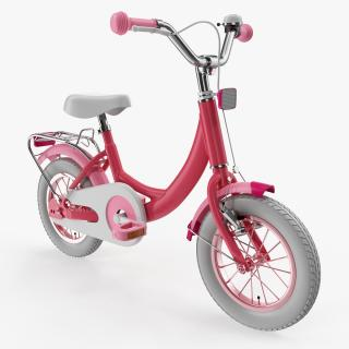 3D model Girls Kids Bike