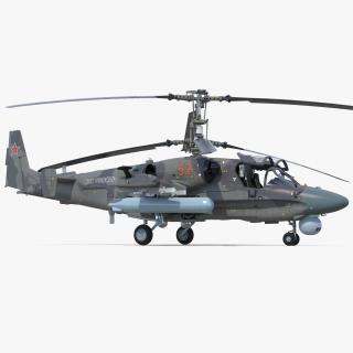 Attack Helicopter KA52 Black Shark Hokum A Rigged 3D model