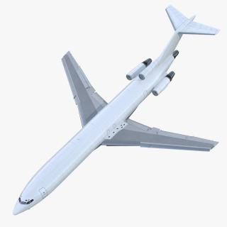 3D model Boeing 727-200F Generic Rigged