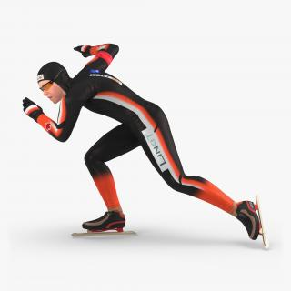 3D Speed Skater 2 Pose 3