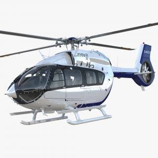 Light Utility Helicopter Eurocopter EC145 T2 3D model