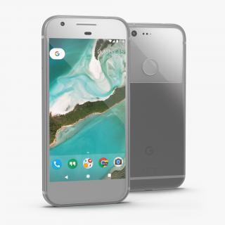3D model Google Pixel Phone Very Silver