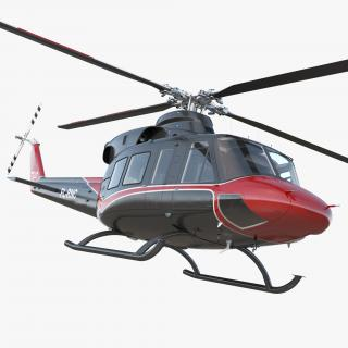 3D model Offshore Helicopter Bell 412EP