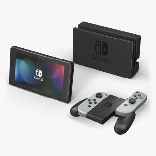 3D Video Game Console Nintendo Switch Set model