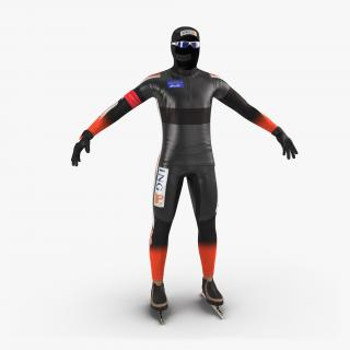 Speed Skater Suit 2 3D model