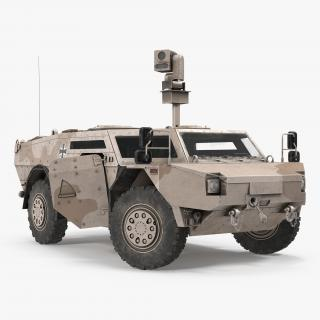 3D Fennek KMW 4x4 Armoured Vehicle Rigged model