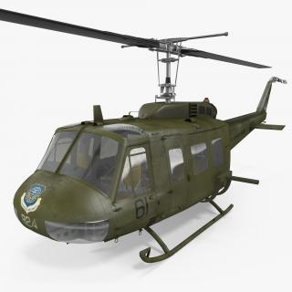 3D Military Utility Helicopter Bell UH-1 Iroquois