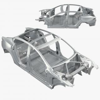 3D Tesla Model S Frame 3