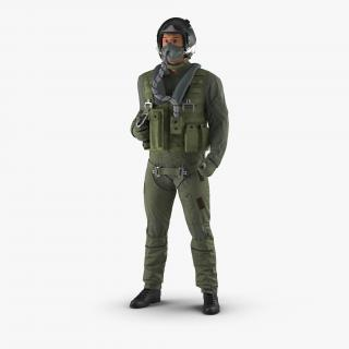 Russian Jet Fighter Pilot Rigged 3D