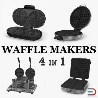Waffle Makers Collection 3D model