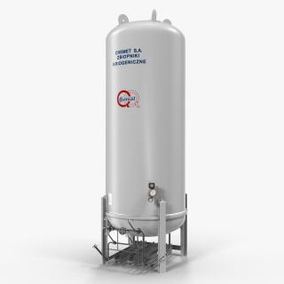 3D model LNG Storage Tank Vertical