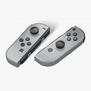 3D model Nintendo Switch Joy Con Controllers