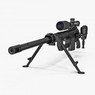 3D Sniper Rifle CheyTac Intervention M200 model