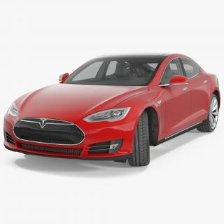 3D Tesla Model S 75 2015 Rigged model