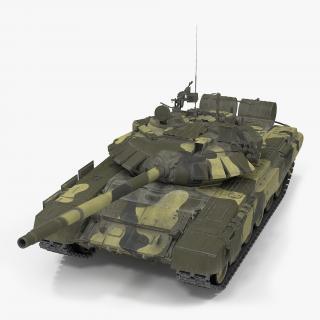 3D model T72 Main Battle Tank Camo