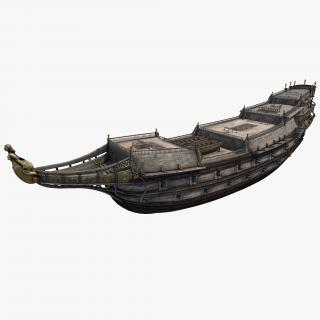 3D Galeon Ship Body