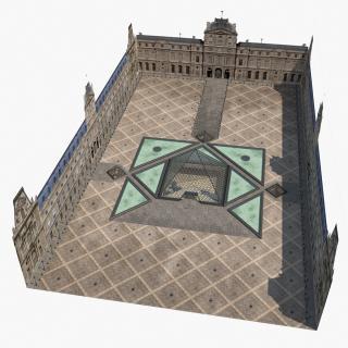 3D model Louvre