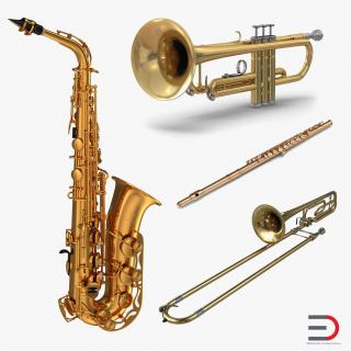 Wind Instruments Collection 2 3D model