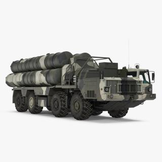 3D model SA-10 Grumble or S-300 Russian Missile System