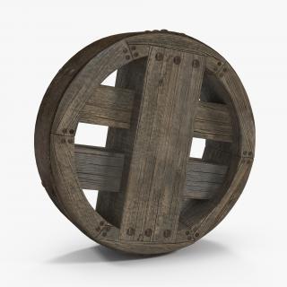 3D model Antique Wooden Wheel