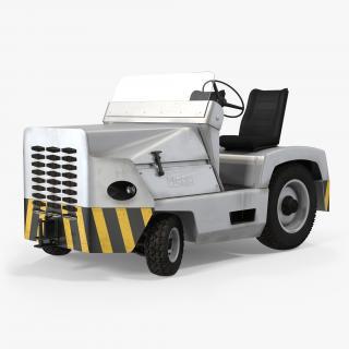 3D model Airport Tug Car Clark CT30 Diesel Rigged