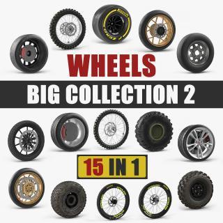 3D Wheels Big Collection 2 model
