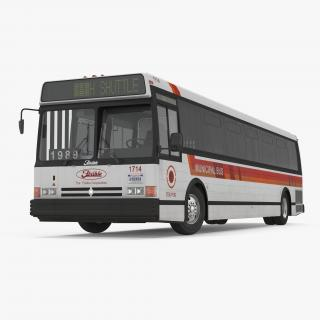 3D Flxible Metro D Municipal Bus Rigged
