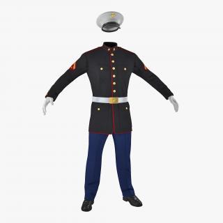 3D model US Marine Corps Parade Uniform