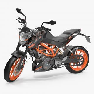 3D model Motorcycle KTM Duke 390 2016 Rigged
