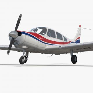 Aircraft Piper PA-28-161 Warrior II Rigged 3D