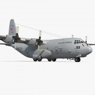 Lockheed C-130 Hercules US Military Transport Aircraft 3D model