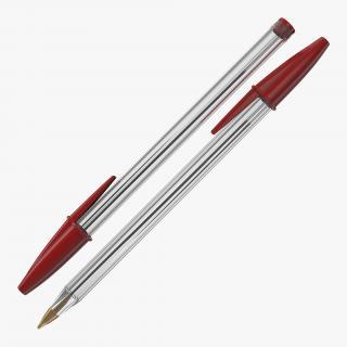 3D Transparent Pen Red Ink model