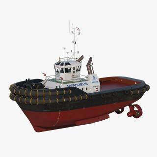 3D Harbour Tug Boat