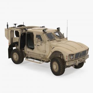 3D model Oshkosh M-ATV Mine Resistant Ambush Protected Vehicle Rigged