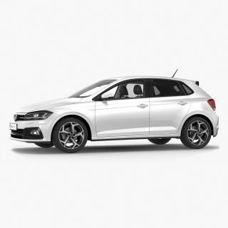 3D Volkswagen Polo 2018 Simple Interior
