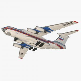 Ilyushin Il-76 Emergency Russian Air Force 3D