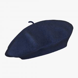 3D model Wool Blue Beret