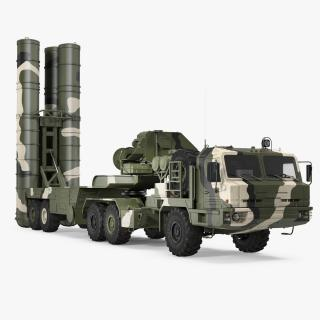 Russian S-400 Triumf Air Defense System Vehicle 3D