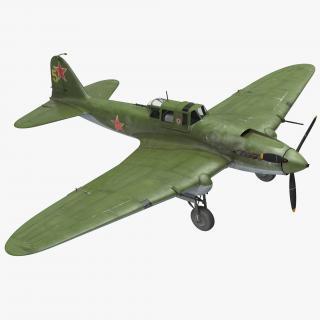 3D Ilyushin Il-2 WWII Soviet Attack Aircraft