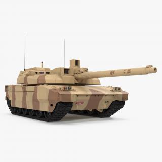 3D French Army Tank AMX 56 Leclerc