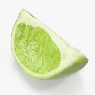 Lime Quarter 3D