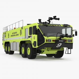 3D Oshkosh Striker 4500 Aircraft Rescue and Firefighting Vehicle