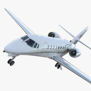 Business Jet Cessna Model 680 Sovereign 3D model