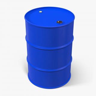 3D Oil Drum 200l Blue model