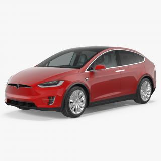Tesla Model X 90D 2017 3D