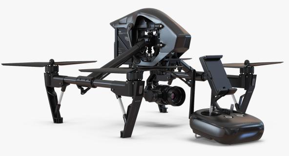 DJI Inspire 1 Quadcopter Black Edition Set 3D
